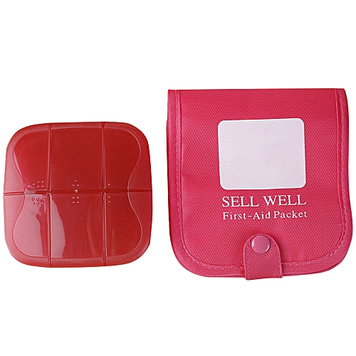 First Aid bag Pill Case Storage Box Portable Vitamin Organizer Bag  Container Tablet Holder Travel
