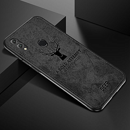 official photos 4f09d 7e567 For Honor 9 Lite case Cloth Deer Phone Case For Honor Case Soft Shockproof  Back Cover-Black