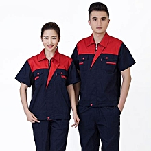 Summer Machinery Factory Workshop Auto Car Repair Engineering Service Labor Insurance Clothing Set-Red