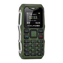 MELROSE S10 1.0 Inch 450mAh Bluetooth Smallest MP3 Music Phone Shockproof Feature Phone Green