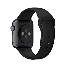 bluerdream-Strap Bracelet Band Silicone Fitness Replacement For Apple Watch 38mm -Black