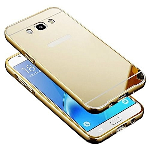 pretty nice c8bba 1c910 Metal Bumper Case W/ Mirror Cover For Samsung Galaxy J7 2016 (Color:c0)