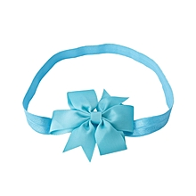 Babies Pure Color Bowknot Hairband - Blue