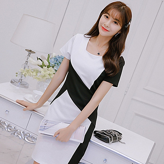 Generic Tb New Fashion Korean Style Short Sleeved Dress Female Tight