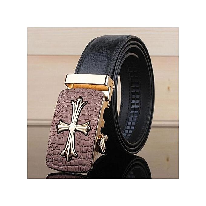 ce4faddb7 2016 New Arrival Men Automatic Buckle Brand Designer Leather Belt Business Belt  Mens Strap High Quality