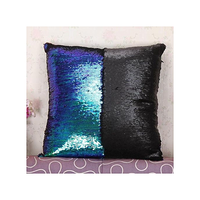 sports shoes 3e33d 6728b Fantynes Householding Pillow Case DIY Two Tone Glitter Sequins Throw  Pillows Decorative Cushion Covers G-As Picture
