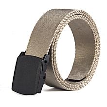 Smooth canvas belt outdoor leisure quick-drying belt(130CM)-Khaki