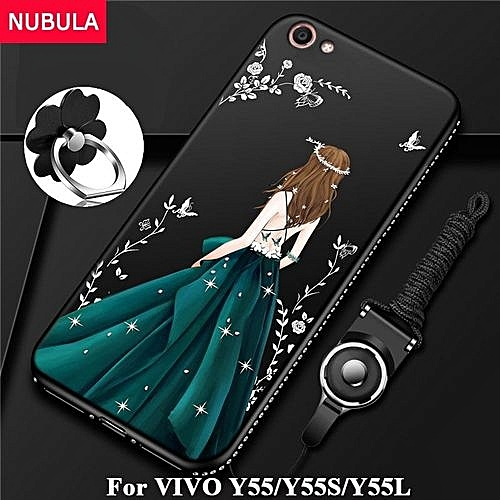 san francisco 935a3 1d8ac Back Cover For VIVO Y55 / Y55S / Y55L Pretty Diamond Ultra-thin TPU  Protection Phone Case Shockproof Case With Phone Rope And Metal Ring 207813  ...