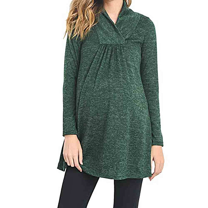 e9d197cf425cb Women's Loose Maternity Clothes Pregnant Shirts Casual Long Sleeve V Neck  Blouse