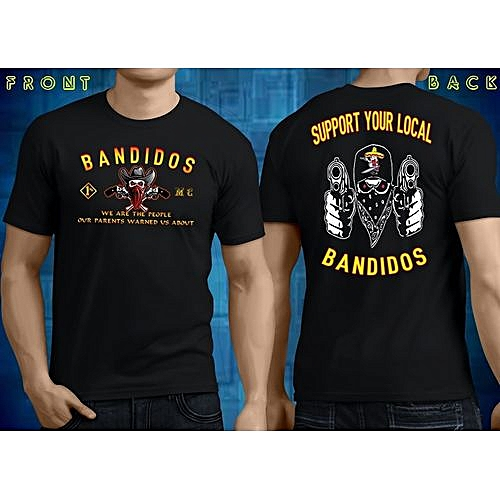 Support Your Local Bandidos Black Men T Shirt