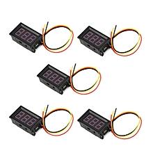 5PCS 100V 0.56in 3 Wire LED Digital Panel Voltmeter Voltage Meter Volt Tester