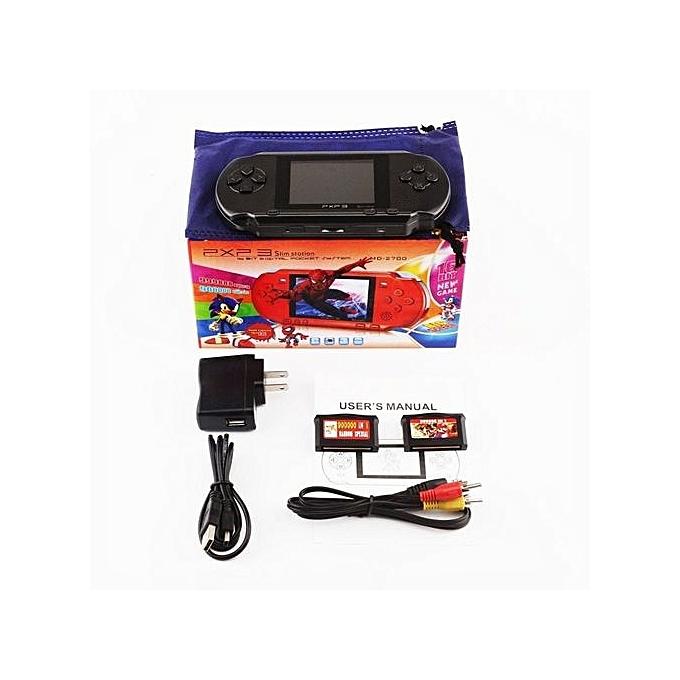 LD-PXP3 Game Console Handheld Protable 16bit Retro Video Game Player (Black)