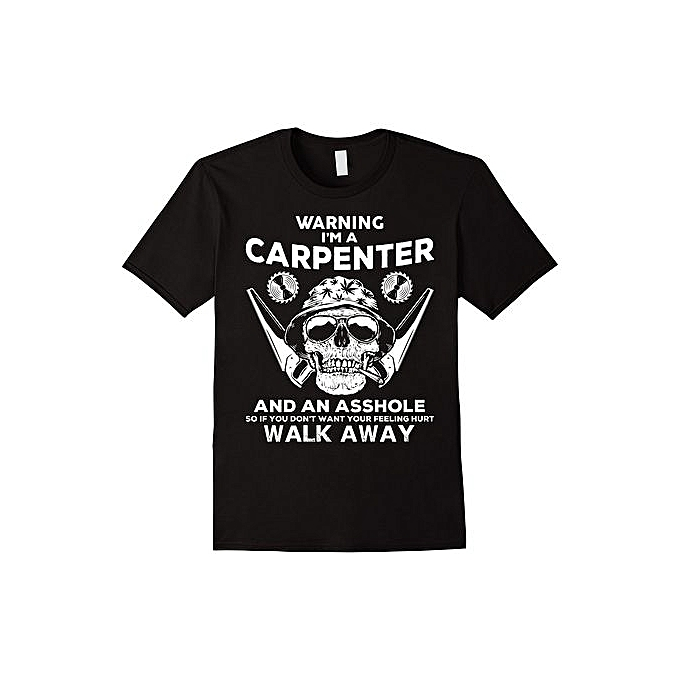 7b4cc752 Generic Mens Funny Carpenter T Shirt Skull Graphic Gift