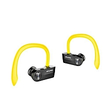 Wireless Earbuds, T2 TWS True Wireless Headphone Mini Bluetooth Headset Sport Noise Cancelling Earphone - Yellow