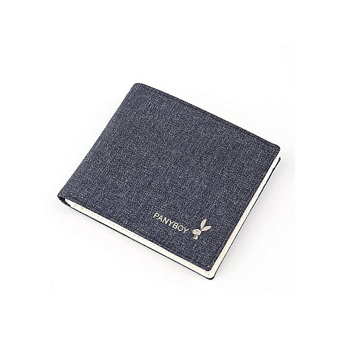 Playboy High-quality Mens Wallet (blue)