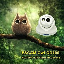 Escam QD100 720P IP Camera Network IR-Cut P2P IR Night Vision Motion Detection Support Onvif Camera EU