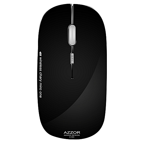 Azzor N5 Soundless Rechargeable Utra Slim Wireless Mouse Optical Gaming For Pc Computer Desktop