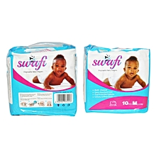 Swafi Baby Diapers - size 4, Medium Pack (Count 100) -  Baby weight 5-11 kgs