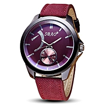 SBAO Symphony Fashionable Personality High-grade Business Belt Watch     - Red