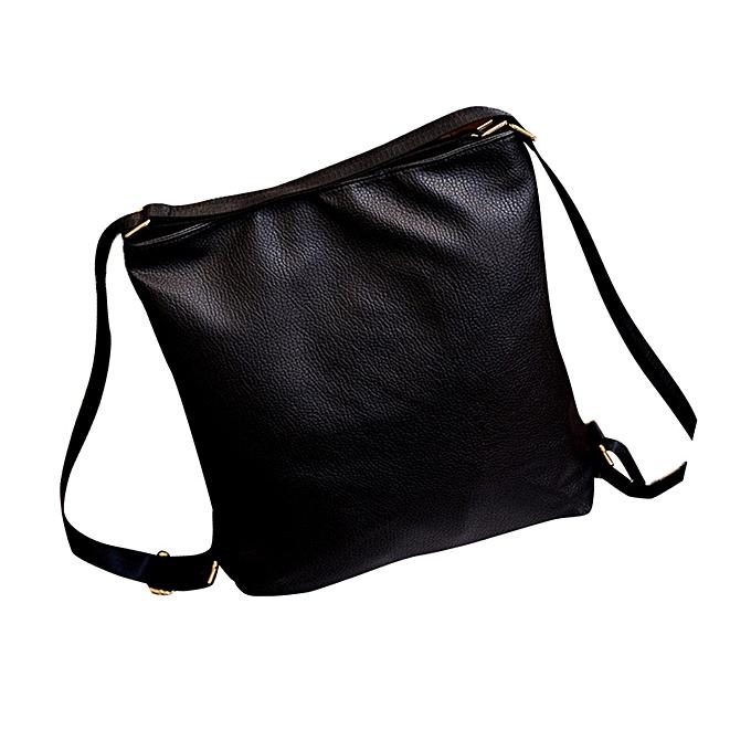 shioakp Women Fashion Shoulder Bags Messenger Backpack School Bag Black  Leather Design b90eba86cbc