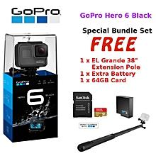 GoPro Hero 6 Black / Hero6 Black Action Camera +64GB+Battery+Grande38'' WWD
