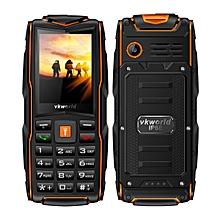 Vkworld New Stone V3 IP68 3000mAh 2.4 Inch 3 SIM Cards 2MP Waterproof Outdooors Mobile Phone Orange