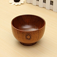Natural Jujube Wooden Bowl Chinese Soup Rice Noodles Bowls Kids Lunch Box Kitchen Tableware For Baby Feeding Food Containers Brown