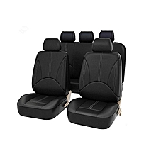 Universal Car Seat Covers Leather Fit Split Rear Airbag 40/60 Anirbag FULL Black