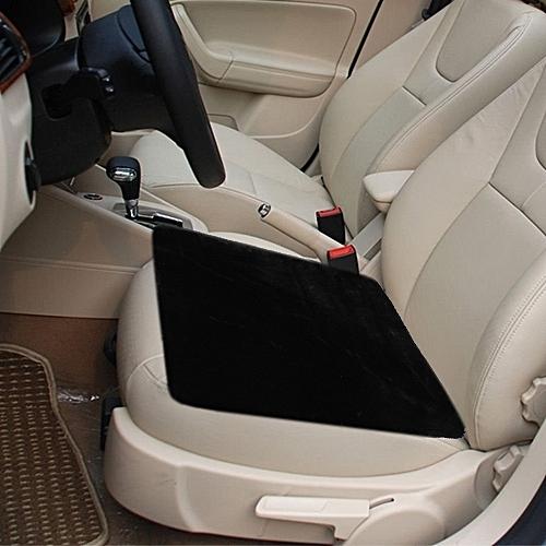 Warm Plush Car Seat Cover Cushion Saddle Size 48cm X 48cmblack