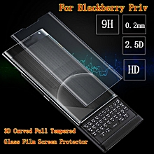 Black 3D Curved Full Tempered Glass Film Screen Protector For Blackberry Priv