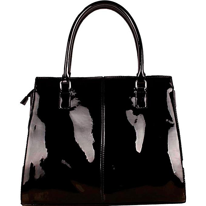16809df42eb7 Generic Handbag PU Leather Ladies Hand Bag Black   Best Price ...