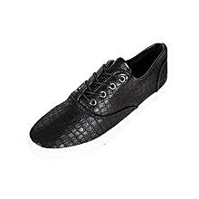 Black Reptile Print Rubber Sneakers