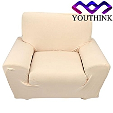 Single Sofa Plush Stretch Anti-mite Soft Couch Slipcovers Beige