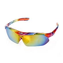 10pcs Windproof Cycling Glasses With Polarized PC Lens - Colormix