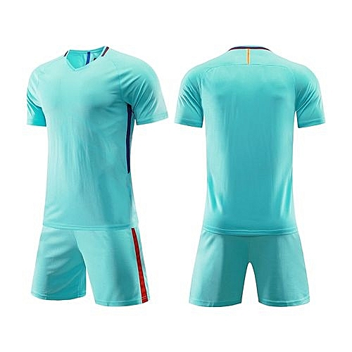 d1e0eb99330 Longo Customized Men s World Cup Football Soccer Team Training Sports Jersey  Set-Light Green