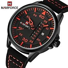 Top Brand Men Casual Wrist Watch - Black Red