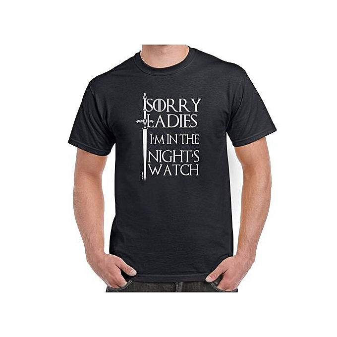 22f60ea6e7 Mens Funny Tshirts Nights Watch Game Of Thrones Style T-Shirts Summer  Fashion