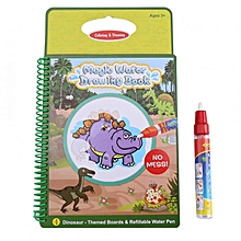 Baby Kids Water Drawing Book Painting Board With Pen Learning Toys Reusable Dinosaur Pattern