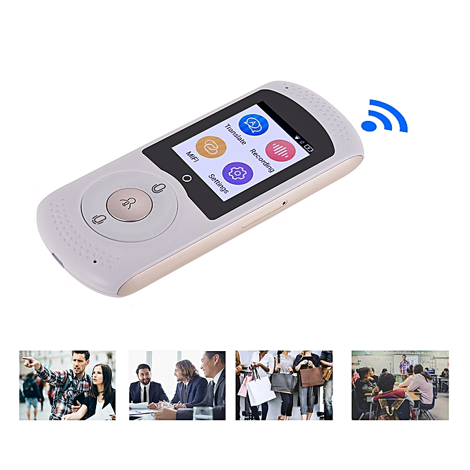 Real Time Instant Smart Voice Translator Device with 2 0 Inch TouchScreen  45 Languages Two Way Translation Support 4G/WiFi for Learning Travel