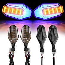 Dual Color 33 LED Motorcycle Indicator Turn Signal Light Motorbike Universal