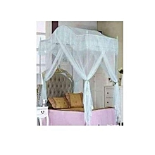 Canopy Mosquito Net with Metallic Stand - 4x6 - White