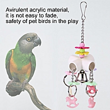 Parrot Budgie Cockatiel Colorful Acrylic Chewing Hanging Toy For Pet Bird Cage