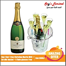 Christine Marie MCC Sparkling Buy 1 Get 1 Free + Acrylic Bucket + 6 Flute Glasses Free