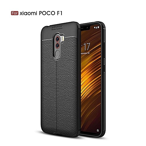 outlet store ccd32 2e6b8 For Xiaomi Mi Pocophone F1 / Poco F1 / PocoF1 Case Luxury Soft Silicon  Litchi Striae Leather Case Coque Shock Proof Back Cover