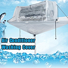 Hanging Air Conditioner Washing Cleaning Waterproof Cover Holser Protector Home