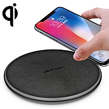 UF002 Round 10W  Qi Wireless Charger Pad, For iPhone, Galaxy, Huawei, Xiaomi, LG, HTC and Other Smart Phones(Black)
