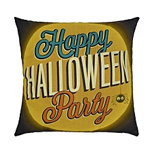 Happy Halloween Pillow Cases  Linen Sofa Letter Cushion Cover Home Decor E
