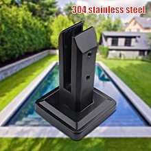 304Stainless Glass Spigots Post Railing Clamp Floor Standing Stairs Balcony Pool
