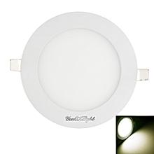 1PCS 12W Ac85 - 265V 60 - Smd Cold White / Warm White Light Led Round Panel Light - Cold White