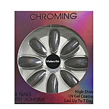Chroming 24 Nails with Adhesive - Meteorite